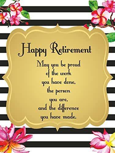 amazoncom happy retirement wishes decorations quotes