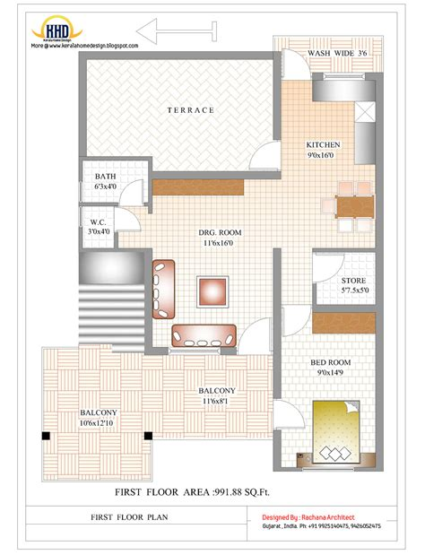 design home plans contemporary india house plan 2185 sq ft kerala home