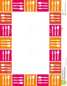 colorful kitchen knives frame with spoon knife and fork royalty free stock photo image 3927225