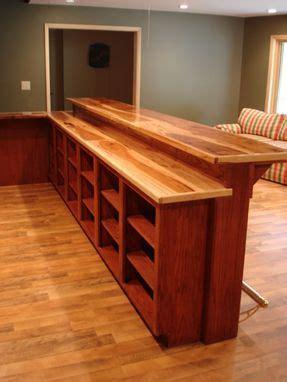 custom oak bar  hickory counter top  smith