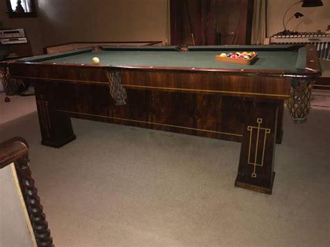brunswick balke collender pool table rare 1918 brunswick balke collender arts and crafts pool