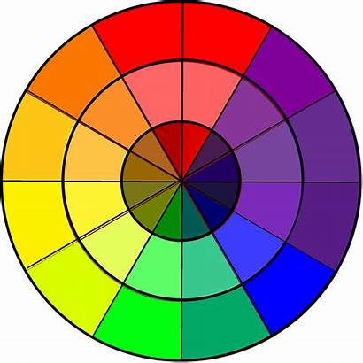 Wheel Clipart Cliparts Clip Circle Rainbow Complementary