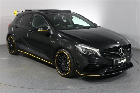 We analyze millions of used cars daily. 2017 (17) MERCEDES-BENZ A CLASS A45 4Matic Yellow Night Edition 5dr Auto