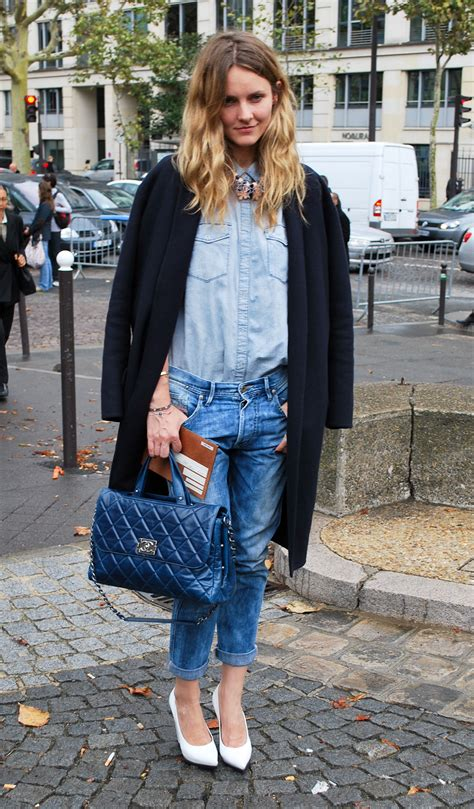 Double denim blue on blue is back with a vengeance on the streets of new york! u2013 Nolita Hearts NYC