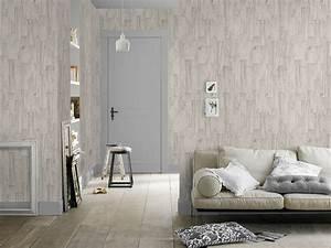 vliestapete holz creme grau factory rasch 446630 With balkon teppich mit rasch tapeten betonoptik