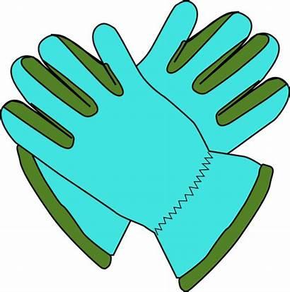 Gloves Clipart Clip Winter Vector Hat Gardening