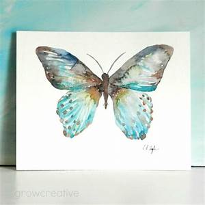 Grow Creative Blog: Teal Butterfly Painting
