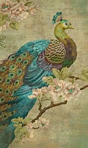 Vintage peacock fabric | for the bathroom | Pinterest ...