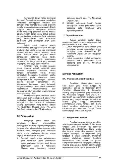 Jurnal manajemen agribisnis vol. 11 no. 3 juli 2011