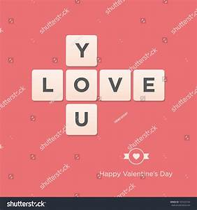 Valentines Day Card Letter Alphabet Vector Stock Vector ...