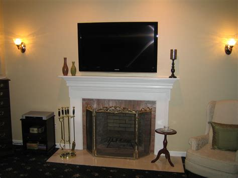 Fireplace With Tv Above by Tv Fireplace Ideas Clinton Ct Mount Tv Above