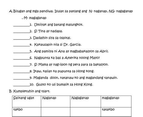 19 free download filipino worksheets for grade 1 pandiwa