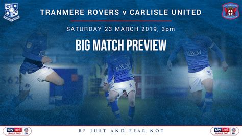 big match preview united head to tranmere at the weekend news carlisle united