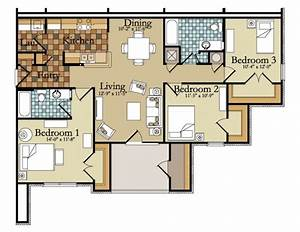 Outstanding architectural plan of two bedroom flat shoise for Architectural drawings of 3 bed room flat