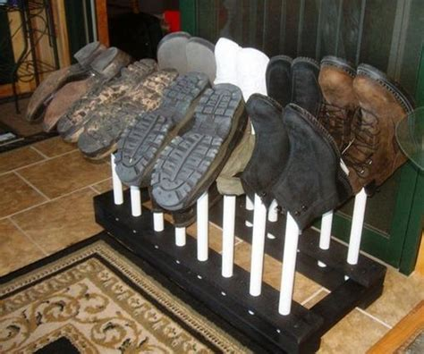 shoe boot rack build your own customized boot rack your projects obn