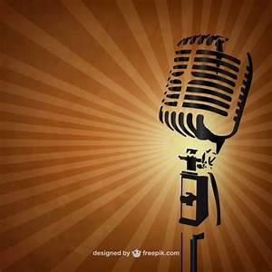 Retro microphone background Vector | Free Download