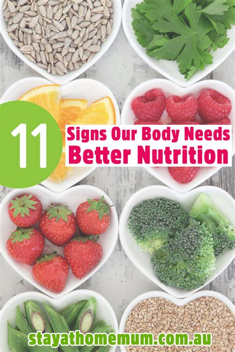 11 Signs Our Body Needs Better Nutrition  Stay At Home Mum