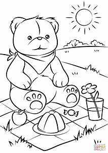 Teddy Bearsu002639 Picnic Coloring Page Free Printable