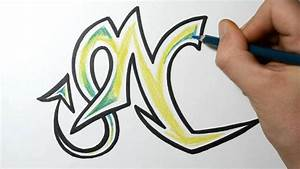 How to Draw Wild Graffiti Letters - N - YouTube