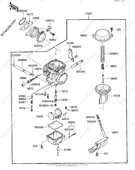 Kawasaki Atv Oem Parts Diagram For Carburetor