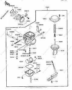 Kawasaki Atv 1987 Oem Parts Diagram For Carburetor