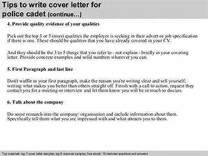 How To Write A Letter To A Recruiter Police Cadet Cover Letter