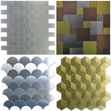 peel stick metal tiles sle wall for kitchen