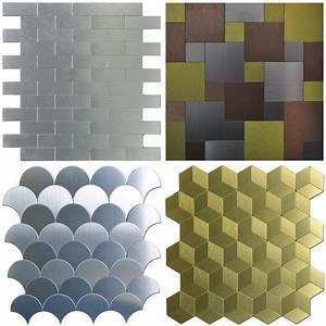 Peel Stick Metal Tiles Sample Wall Art For Kitchen