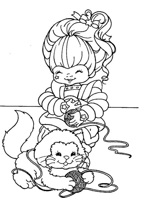 Free Coloring Sheets by Rainbow Brite Coloring Pages To And Print For Free