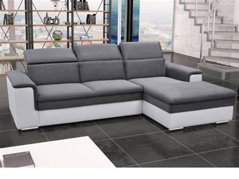 canapé d angle avec relax canapé d 39 angle convertible avec têtières 3 coloris connor