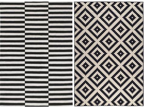 ikea chambres où trouver un tapis noir et blanc joli place