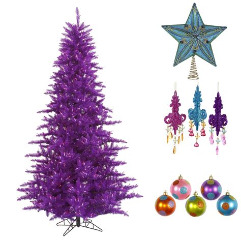 awesome picture of small purple christmas tree fabulous