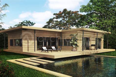 chambre maison plan de maison bois 3 chambres archionline