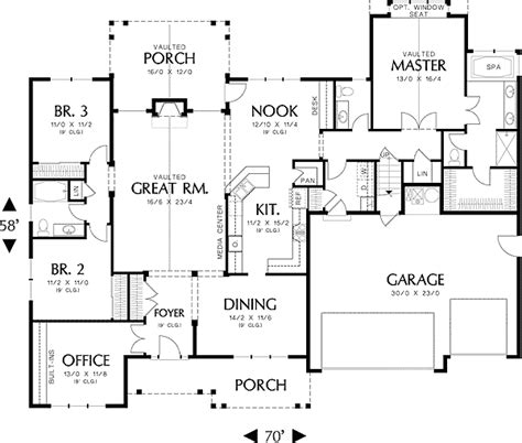 House Plans Split Bedroom  Home Design And Style