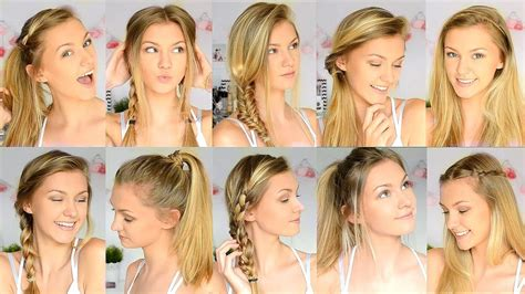 10 easy back to school hairstyles youtube