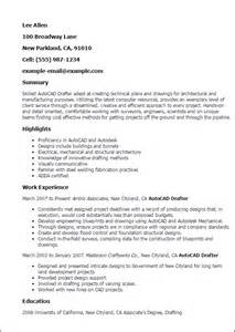 architectural drafting resume exles professional autocad drafter templates to showcase your