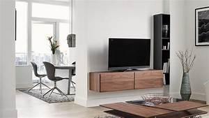 Meuble Tv Accroché Au Mur : bien choisir son meuble tv ~ Melissatoandfro.com Idées de Décoration