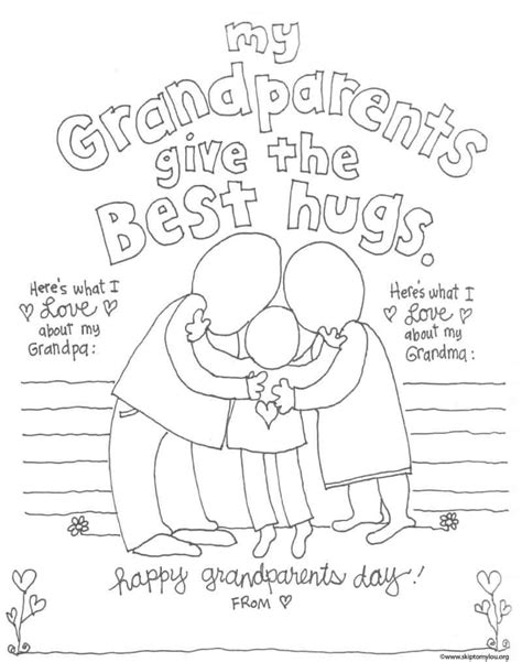 grandparent coloring pages for grandparents day skip to 621   Granparent Coloring Page 2 800x1015
