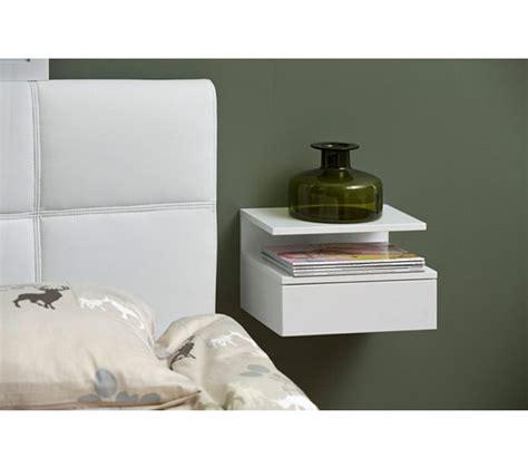 chambre avec lit superposé chevet suspendu ashlan blanc chevets but