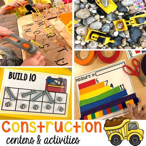 construction themed centers amp activities for 719 | Slide1