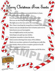 about us santa39s mailbag inc With letter from santa north pole