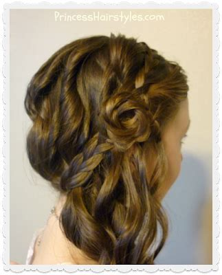 romantic side swept braided rose hairstyle hairstyles
