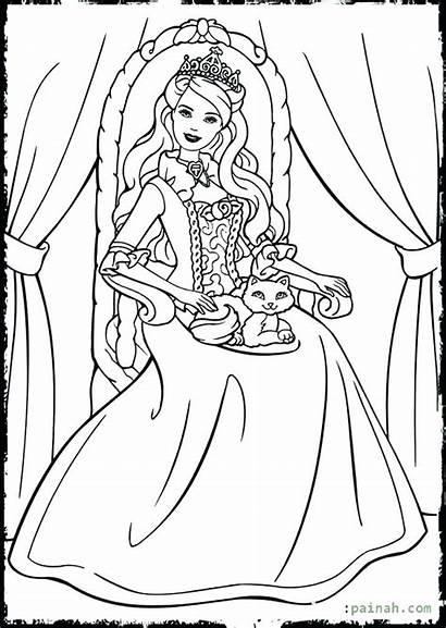 Queen Esther Coloring Barbi Kot Druku Printable
