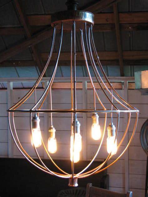 industrial chandelier ideas  pinterest