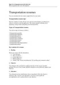dispatcher resume objective exles doc 7911024 resume exles sle trucking resume