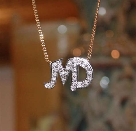 cz  initial necklace  monogrammed