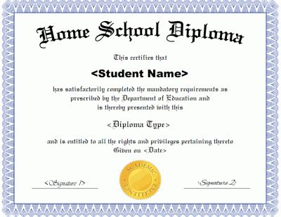 high school diploma templates printable receipt