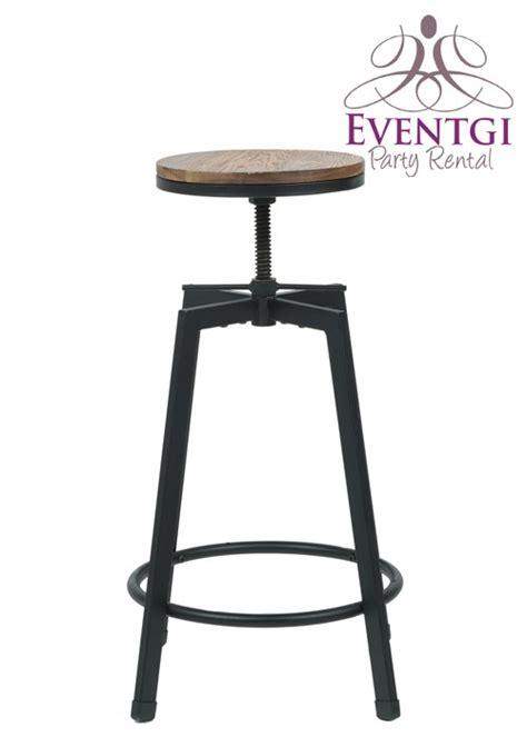 vintage bar stools rentals rustic bar stool rental
