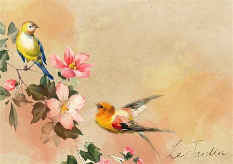 Vintage Animal Wallpaper - bird vintage flower 183 free image on pixabay