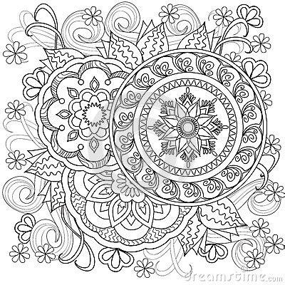flowers mandalas  vektor abbildung bild